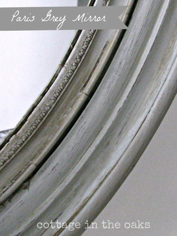 Paris Grey Mirror With Ascp Popular Pins Cottage In