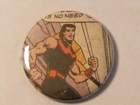 "Comic Book 1.5"" Button// Wonder Man"