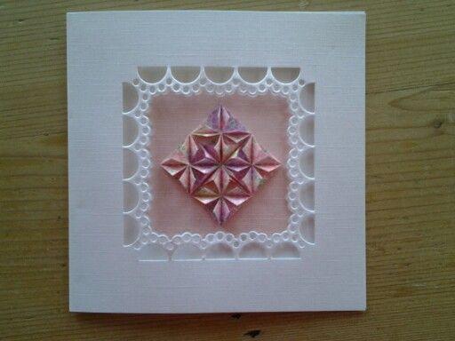 Origami patchworkkaart