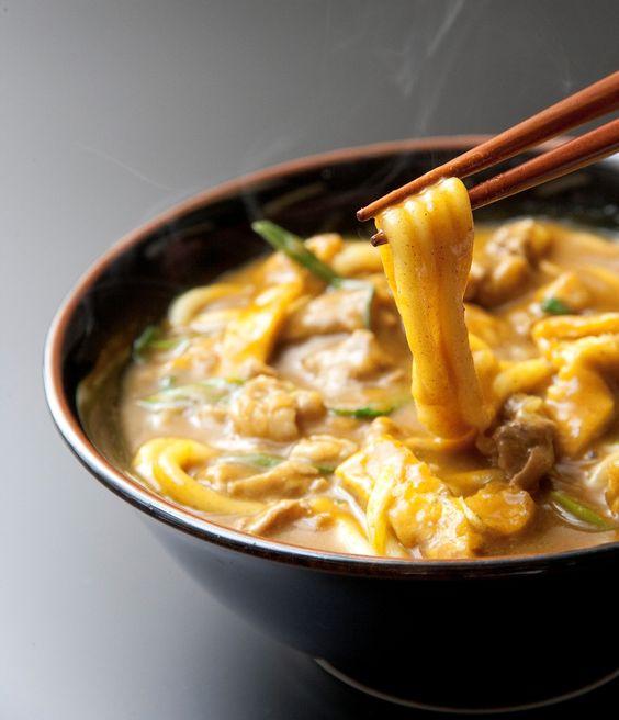 カレーうどん。Curry noodles.