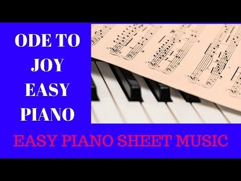 Ode To Joy Easy Piano Sheet Music Free Pdf Youtube Beginner