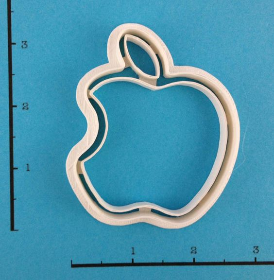 Apple Logo Cookie Cutter — WarpZone Prints