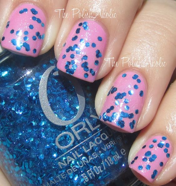 Orly Flash Glam FX Collection: Spazmatic  (from The PolishAholic:): Collection Swatches, Collection Spazmatic, Polish Stash, Nail Art, Pretty Stuff