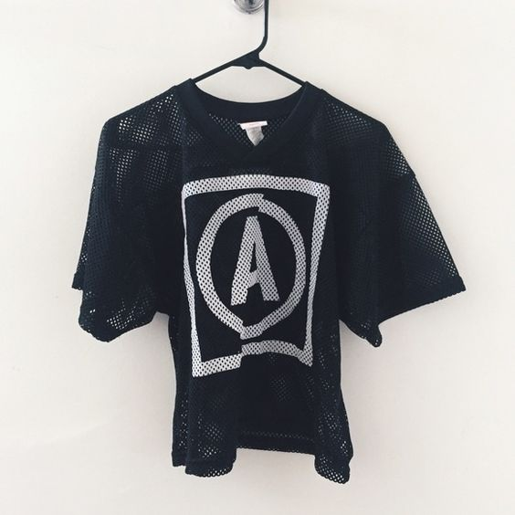 💲SALE // US Alteration Logo Jersey Vintage style US alteration jersey // printed on a youth sized large jersey. I'm a medium and its baggy on me. Semi cropped style - Perfect for Summer! US Alteration Tops