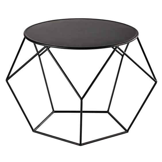 Metal round coffee table in prism  #coffeetabledesign modern coffee table #blackdesign black coffee table #livingroomdesign the living room . See more at www.coffeeandsidetables.com