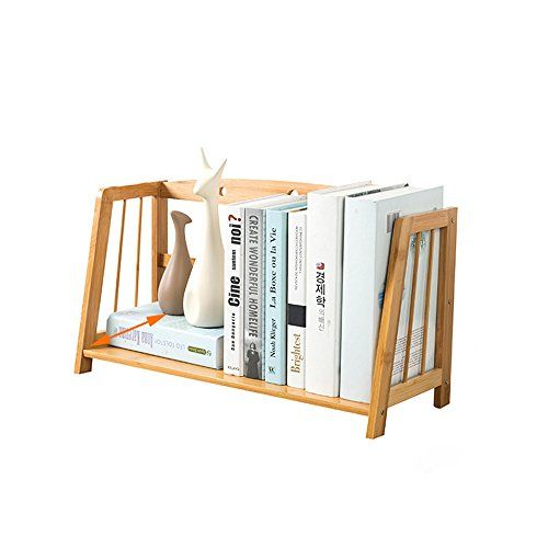 Bamboo Empty Desktop Bookshelf Simple Storage Rack Student Office Mini Bookcase Storage Desk Organizer File Shelves Size L53cm Fai Da Te