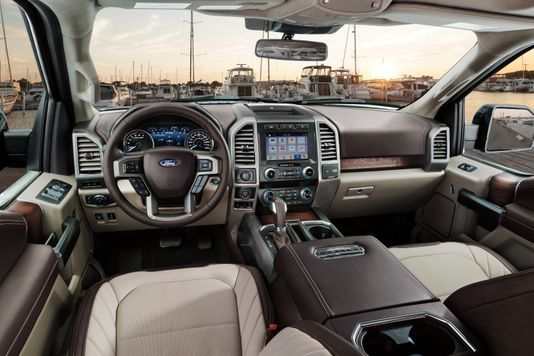 Luxury In A Pickup Massaging Seats Alligator Patterned Leather Ford F150 Interior Ford F150 Raptor Pickup Trucks