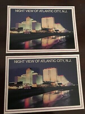 Details About 2 Postcard Atlantic City Night View Ephemera Atlantic City City Nj Beaches