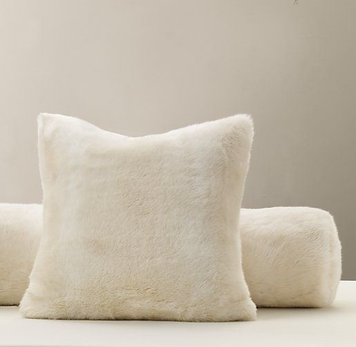Luxe Faux Fur Decorative Pillow Cover Amp Insert