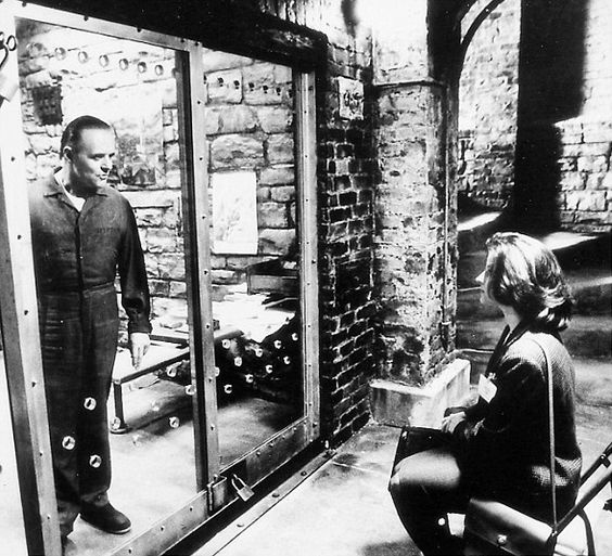 Anthony Hopkins  as Hanibal Lector in The Silence of the Lambs oppositeJodie Foster.