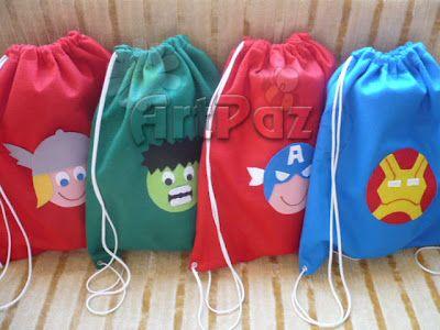 Thor Party Ideas | ArtPaz by Tania Paz: Os Vingadores - Thor, Hulk, Capitão América e ...