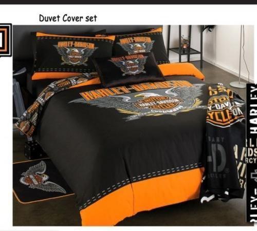 Harley Davidson Bedding Queen Single Bed Duvet Cover And Pillow Harley Davidson Bedding Harley Davidson Decor Duvet Bedding