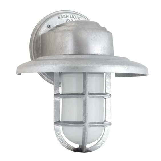 Barn Light Charcoal: Atomic Streamline Industrial Guard Sconce Via @Barn Light