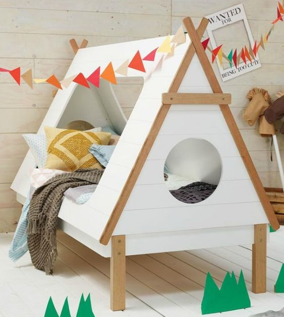 7 Nice Triple Bunk Beds Ideas For Your Children S Bedroom: Teepee Bed, Tent And Kid On Pinterest