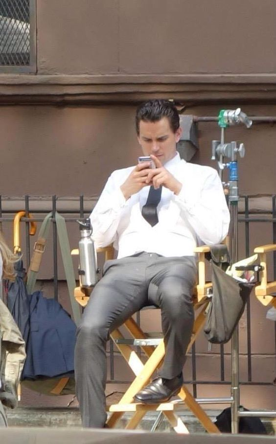 Resting on the set