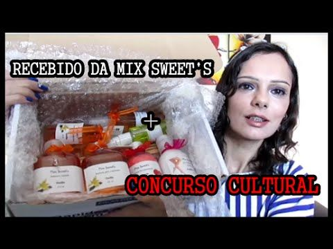 Recebido da Mix Sweet's + CONCURSO CULTURAL   Luciana Queiróz
