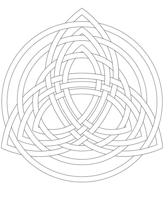Don't Eat the Paste: Triple Trinity Knot for embroidery or coloring