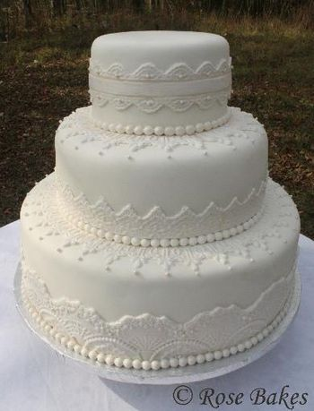 Cake With Fondant Lace : Fondant lace for wedding cake - Are these molds only used ...