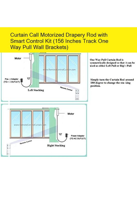 Curtain Call Motorized Drapery Rod With Smart Control Kit 156