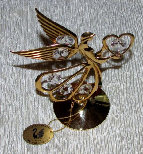 SWAROVSKI-SUNCATCHER-AUSTRIAN-CRYSTAL-24KT-GOLD-PLATED-ANGEL
