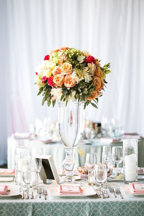 wedding centerpiece idea; photo: Jasmine Lee Photography