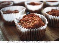 Recyklingowe muffinki - pulpa z sokowirówki