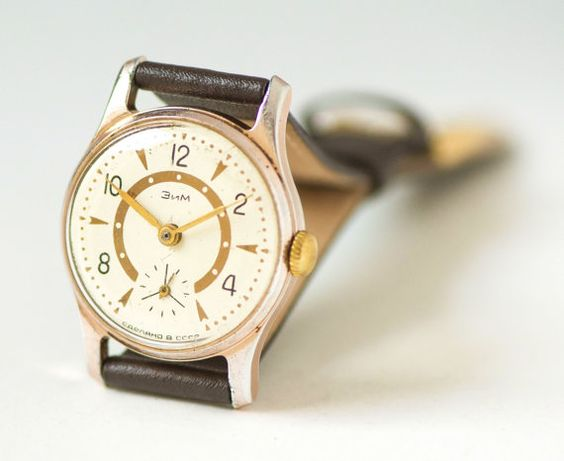Unisex wristwatch vintage watch tomboy classy unisex by SovietEra