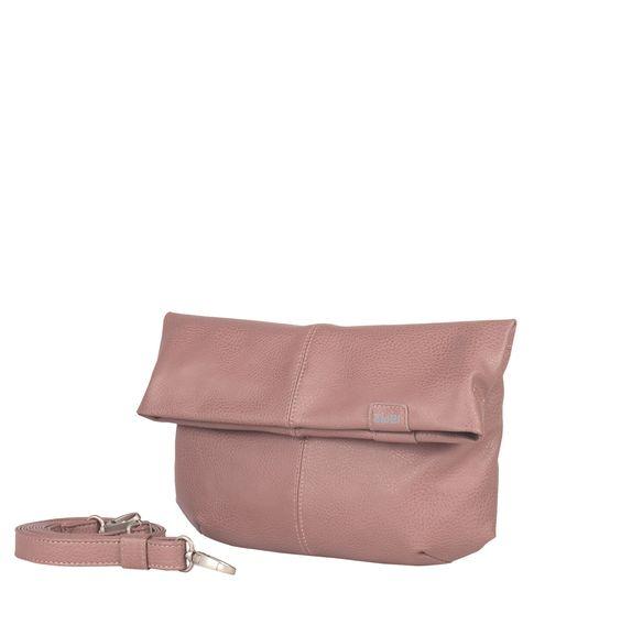 Frauentaschen :: MADEMOISELLE :: M4 | ZWEI Taschen Handtasche :: Clutch :: Abendtasche :: lederfrei :: puder :: powder :: altrosa