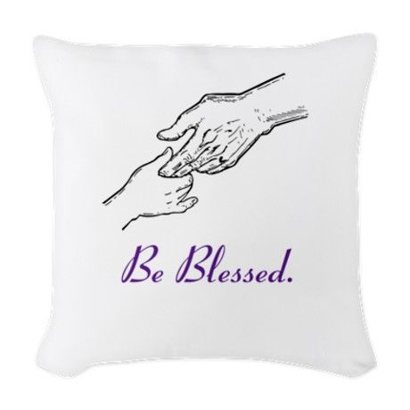 Hands Of Blessings Woven Throw Pillow on CafePress.com