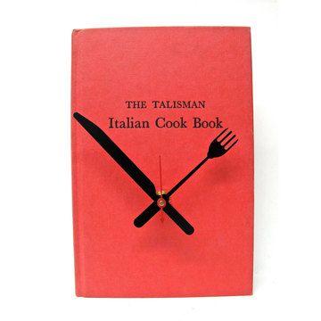 Vintage Book Clocks. Cool idea!