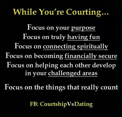biblical courtship vs dating Discussion about the biblical guidelines for dating see this page in: dutch, hungarian, indonesian, spanish, swedish) g od wants the best for us in every area of our lives.