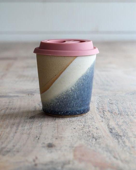 Ceramic Travel Mug - Pottery Keep Cup - Handmade Reusable Coffee Mug - Limited Edition - Ready to Ship #mugpottery Ceramic Travel Mug - Pottery Keep Cup - Handmade Reusable Coffee Mug - Limited Edition - Ready to Sh
