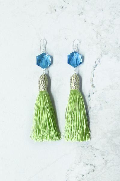Castaway Earrings in River Lime