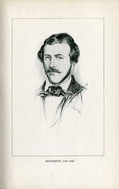 Gaetano Donizetti (1797-1848), drawing (1918), by Chase Emerson (1874-1922).