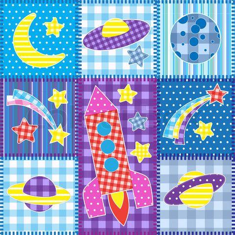 Patrones patchwork gratis estrella dibujos infantiles - Patchwork en casa patrones gratis ...