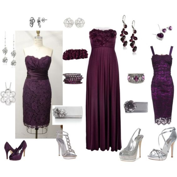 Purple mix and match, created by whitnie-evans on Polyvore