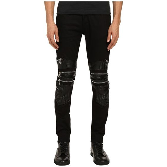 God's Masterful Children Chain Biker Jeans (Black/Black) Men's ...