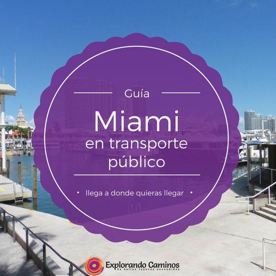 Buscando información de cómo moverte en Miami por transporte público? Acá te dejo una guía practica que te ayudara a planificar tus viajes.