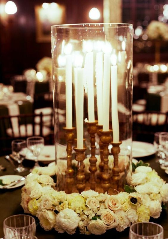 wedding centerpiece idea; photo: Liz Banfield