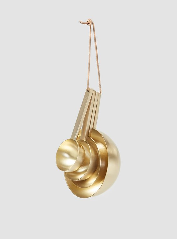 Brass Measuring Spoons by Couverture & The Garbstore