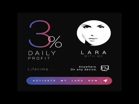 Larawith.me. Best way to earn money. 3% a day!