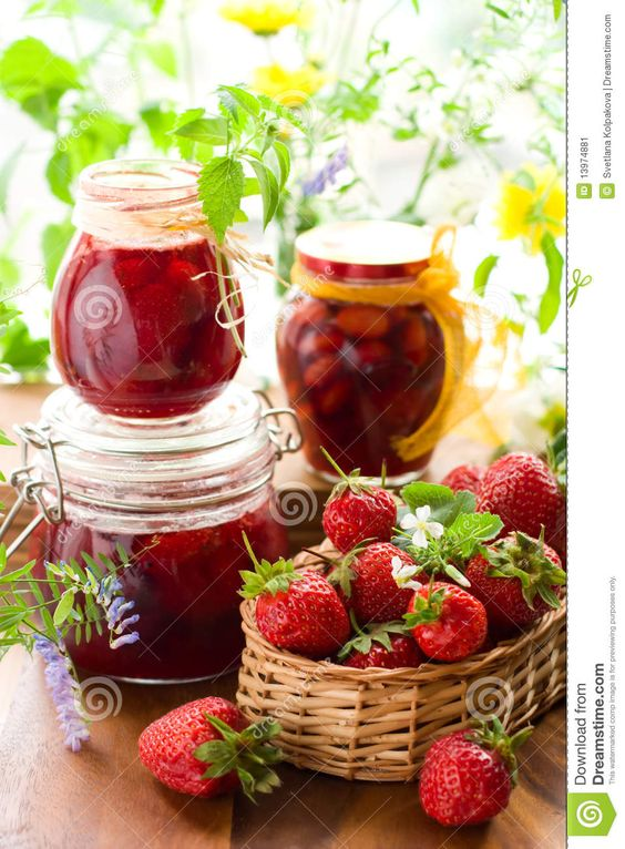Strawberry Jam And Fresh Strawberries - Download From Over 29 Million High Quality Stock Photos, Images, Vectors. Sign up for FREE today. Image: 13974881