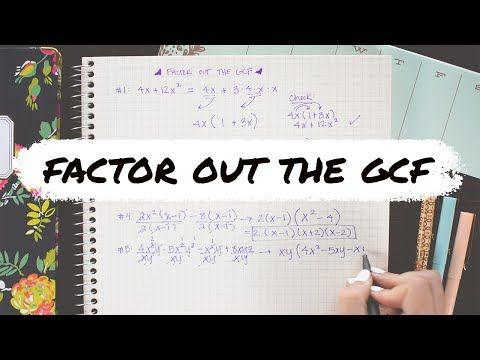 Math Hacks Youtube Greatest Common Factors Common Factors Math Tricks