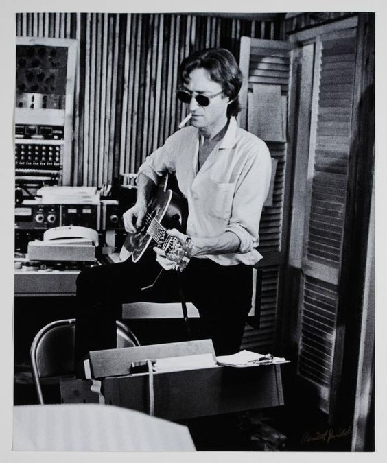 John Lennon recording Double Fantasy, NYC 1980.