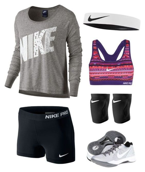"""""""Volleyball"""" by kailey101 ❤ liked on Polyvore featuring NIKE, women's clothing, women's fashion, women, female, woman, misses and juniors"""