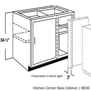 American Cabinet & Flooring - In-Stock Merillat Kitchen Corner Base Cabinets