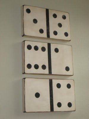 domino wall art - diy
