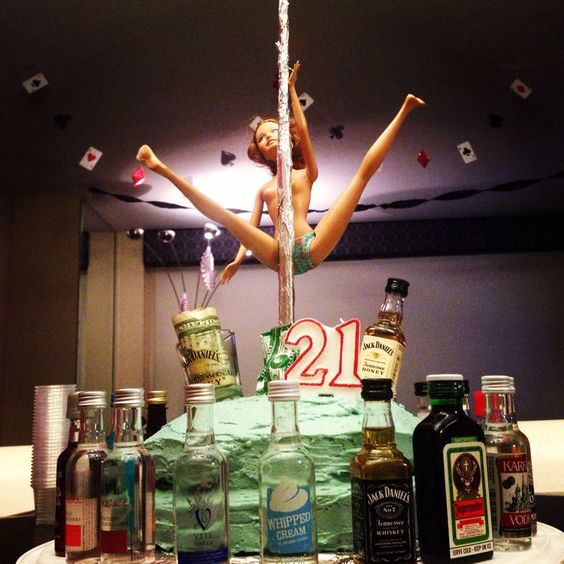 Alcohol 21st Birthday Cake Ideas For Boyfriend
