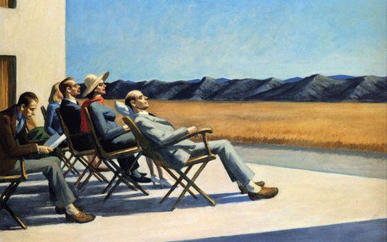 "Edward Hopper, ""Gente al sol"" (1960). Exposición Museo Thyssen-Bornemisza, 2012."