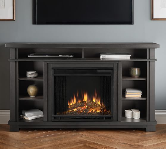 Real Flame 0174 56 25 Quot Belford Electric Fireplace Media Cabinet Potterybarn In 2020 Electric Fireplace Media Electric Fireplace Fireplace Console